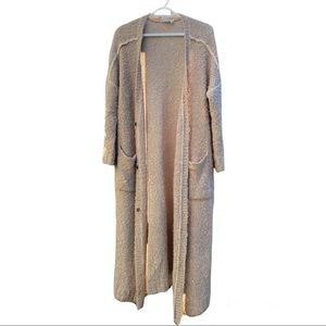 Lost + Wander Tan Long Knitted Cardigan size S